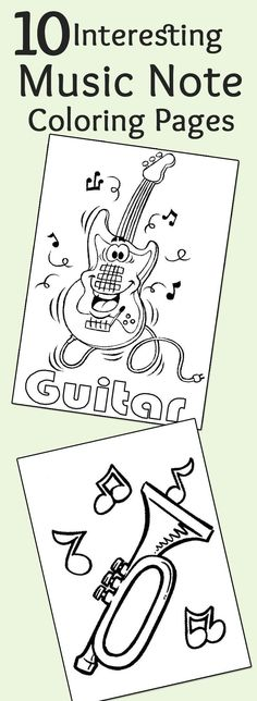 Top 20 Free Printable Music Coloring