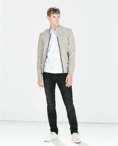 BASIC TOPSTITCH JACKET Zara