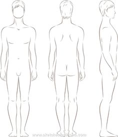 Mens Body Proportion Sketch