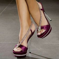 Purple satin with clear and pink stones.