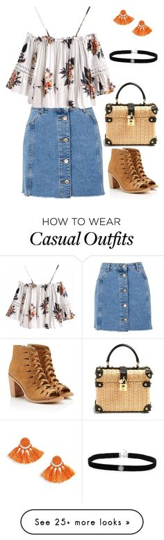 """""""Basket Bag"""" by sarahlong3019 on Polyvore featuring Dolce&Gabbana and Topshop"""