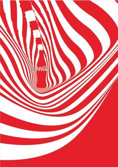 Neville Brody, coca cola design, a design advertising coca cola in where he has used the outline and shape of the coca cola bottle to make an almost optical illusion/psychedelic pattern, i like this piece because it is eye catching and simple without los Intelligent Design, Air France, Graphic Design Art, Graphic Design Inspiration, Emigre Magazine, Mise En Page Magazine, Outline, Neville Brody, Coca Cola Brands