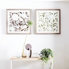 Modern Paper Cut Out Wall Art - Flower | Featuring cut outs on metallic paper and an abstract take on a botanical bloom