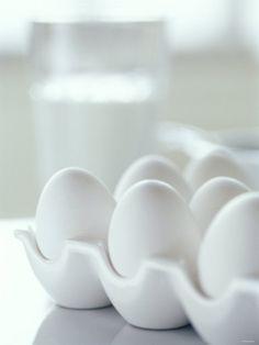 White Eggs in an Egg Holder Photographic Print by Alena Hrbkova at eu.art.com