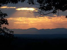 ...Western view from the foothills of NC