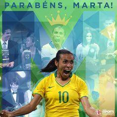 👑 CINCO VEZES MELHOR DO MUNDO! 👑    Hoje nossa rainha completa 32 anos! Parabéns, Marta!