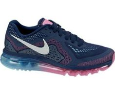 Nike Air Max 2014 Womens Running Shoes 621078-415 Midnight Navy 8 M US