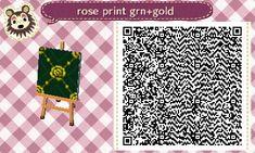 Image result for acnl rose print grn+gold