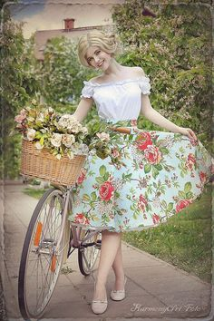 Vintage rose skirt and overal By TiCCi by TicciRockabilly on Etsy