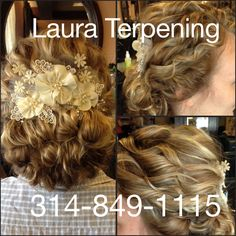 Naturally curly upstyle by Laura Terpening at Salon Antebellum St. Louis Mo 314-849-1115