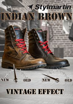 Stylmartin Indian Boots - Vintage effect !