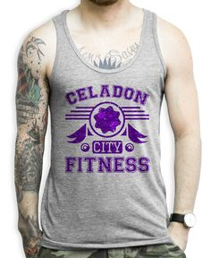 2b8430551b032 Celadon City Fitness on a Athletic Grey Unisex Tank Top