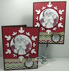 Santa's List Stamp Set & Festive Flurry snowflake die