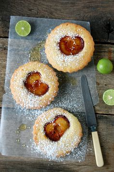 Grilled plum little cakes by butterflyfoodie, via Flickr : http://butterflyfoodie.blogspot.jp/2011/04/grilled-plum-little-cakes.html