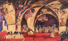 Эскиз декорации «Дума» для оперы «Борис Годунов». М.П. Мусоргского | Ф. Федоровский | 1927