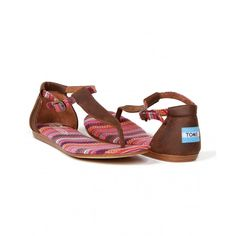 Womens Toms, Brown Leather, Sandals, Shopping, Shoes, Style, Fashion, Swag, Moda