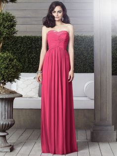 Full length strapless lux chiffon dress w/ covered sequin trim at sweetheart neckline. Rouched bodice and shirred skirt.   available in any size and custom size