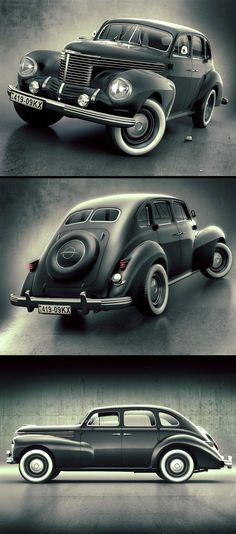 Opel Kapitan 1938 by Alex Novitskiy