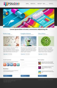 40 Web Page Templates in Photoshop PSD