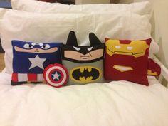 Handmade Superhero Medium Set Pillow, Cushion, Plush, Toy, Gift, Party