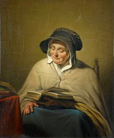 Reading old woman by Cornelis Kruseman born September 25, 1797 in Amsterdam, Netherlands died November 14, 1857 (60) in Lisse, Netherlands