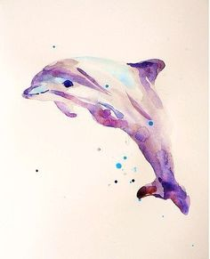 Alison Fennell 的水彩动物。
