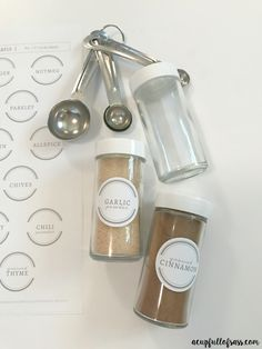 Organize your Seasoning Jars with Labels