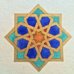 All done! Well that never happens! I saw it through to the end without starting a new project in the middle! Islamic Art Pattern, Arabic Pattern, Geometry Pattern, Geometry Art, Pattern Art, Arabic Design, Arabic Art, Motifs Islamiques, Motif Oriental
