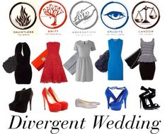 have your guests take the divergent test and then have them wear the color of their faction<<I am so gonna do this! Divergent Cosplay, Divergent Outfits, Divergent Fashion, Divergent Fandom, Divergent Funny, Divergent Trilogy, Tv Show Outfits, Fandom Outfits, Cute Outfits