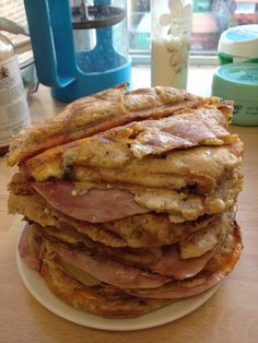 This was our ultimate indulgent day. Toasted ham and cheese sandwich