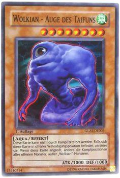 GLAS-DE005 Wolkian - Auge des Taifuns (EN Cloudian - Eye of the Typhoon; FR Nuagien - Oeil du Typhon; IT Nubiano - Occhio del Tifone; ES Cloudian - Ojo del Tifón) Yu-Gi-Oh! Trading Card aus Gladiator's Assault; Set ID: GLAS; Rarity: Super Rare; Kartentyp: Effekt Monsterkarte; Kartennummer: 57610714; Release: 2007