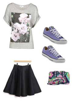 """""""New shoes new attitude @gracelovesanimals"""" by stay-strongforever ❤ liked on Polyvore featuring Converse, Vera Bradley and Wildfox"""