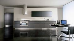 Contemporary wood veneer / stainless steel kitchen VIENNA by Massimo Castagna Rossana