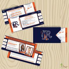 Baseball Themed Wedding Invitations - Tigers Baseball Inspired Wedding Invitation. $6.50, via Etsy.