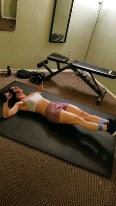 Fitness exercises 116812184071945597 - Want 6 pack Abs? This intense ab workout with weights will strengthen your core and tone and tighten your abs. Great for men and women who workout at home all you need is a pair of dumbells. Fitness Workouts, At Home Workouts, Ab Workouts, Fitness Humor, Fitness Logo, Mens Fitness, Health Fitness, Six Pack Abs Diet, Six Pack Abs Workout