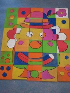 Risultati immagini per kunst mit kindern grundschule clowns - Janine Rodewald - Primary School Art, Art School, Diy And Crafts, Crafts For Kids, Arts And Crafts, Christmas Crafts For Adults, Principles Of Design, Circus Theme, 2d Art