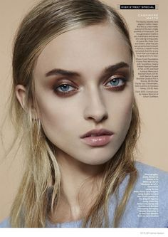 Luminous Skin in Stylist--The November issue of Stylist Magazine takes on the fall beauty trend of luminous makeup with nude and blush tones created by wel