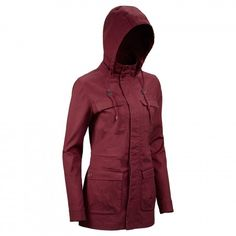 Another Kathmandu wet weather number, Salentino Women's Jacket - this also comes in black but if you need to wear this jacket you also need some color in your day. New Zealand Winter, Wet Weather, Rain Wear, Military Jacket, Rain Jacket, Raincoat, Burgundy, Jackets For Women, Sporty