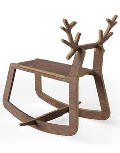 Reindeer #Rocking_Chair | snowzine.com