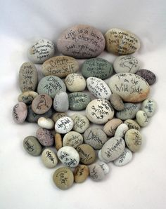 Thanksgiving Rocks-A great idea for children. Simply leave out a bowl of river rocks and a few black Sharpies. If you live near a beach or somewhere where there are smooth rocks, you could collect with the children on Thanksgiving morning.