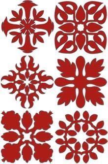 Advanced Embroidery Designs - Hawaiian Motif Applique Set II.