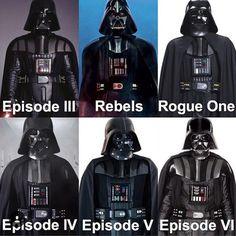 Why Darth Vader Wears Different Suits During The Star Wars Saga Star Wars Trivia, Star Wars Facts, Star Wars Humor, Starwars, Star Wars Brasil, Maquette Star Wars, Jar Jar Binks, Vader Star Wars, Star Trek