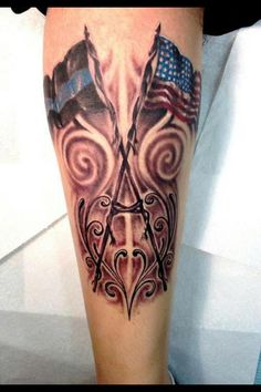 Thin blue line tattoo Cop Tattoos, Line Tattoos, Great Tattoos, Sexy Tattoos, Tattoos For Guys, Unique Tattoos, Body Art Tattoos, Tattoos For Women, Tatoos