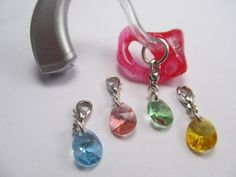 Colorful Teardrop Hearing Aid Charms by FayWestDesigns on Etsy, $8.00