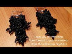 Micro - Macramé Earrings Tutorial by Macramé for Soul - YouTube