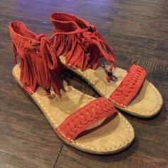 New Minnetonka Fringe Sandals New without box Minnetonka fringe sandals size 5 Minnetonka Shoes Sandals