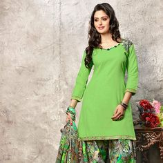 Green Cotton Kameez with Patiala