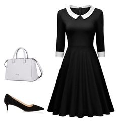 """""""Retro style - hourglass shape"""" by style-institute ❤ liked on Polyvore featuring Prada"""
