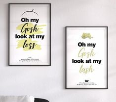 Lashes Baldness Hair Loss Gold black white funny typography him her gift wall poster bedroom living text woman man set two print White God, Donut Bun Hairstyles, Bald Hair, Bedroom Posters, Color Profile, Man Set, Hair Loss Remedies, Hair Loss Treatment, Black Gold
