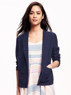 Open-Front Classic Blazer for Women